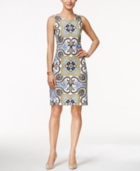 Charter Club Sleeveless Scarf Print Dress Only At Macy's Sun Yellow