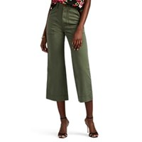Icons Baker Cotton Crop Trousers Green