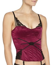 Chantelle Palazzo Satin Lace Detailed Corset Cassis Black