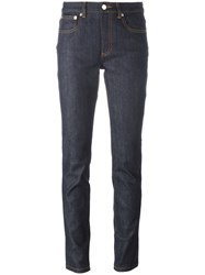 A.P.C. Five Pockets Skinny Jeans Blue