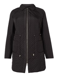 Persona Tram Long Quilted Jacket Black