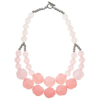 John Lewis Large Bead Layered Necklace Blush