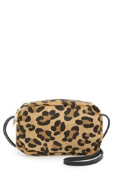 Junior Women's Street Level Leopard Print Mini Crossbody Bag