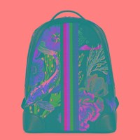 Paul Smith Printed Canvas Backpack Black