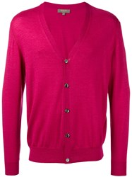 N.Peal Button Up Cardigan Pink Purple