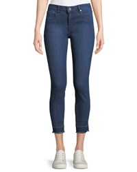 Parker Smith Ava Mid Rise Cropped Skinny Jeans Blue