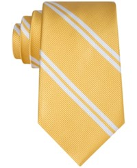 Club Room Men's Double Awning Stripe Tie Only At Macy's Yellow