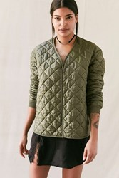 Urban Renewal Vintage Quilted Military Pullover Jacket Green
