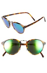 Spektre Women's 'Audacia' 49Mm Sunglasses Havana Green Mirror Havana Green Mirror