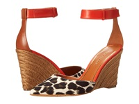Enzo Angiolini Cozetta Natural Multi Fabric Women's Wedge Shoes Beige