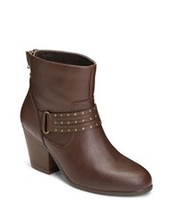 Aerosoles Longevity Studded Ankle Boots Brown