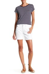 Jag Jeans Alex Embroidered Short White