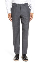 Ted Baker Men's London Columbus Flat Front Check Wool Trousers Grey