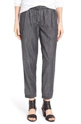 Women's Eileen Fisher Chambray Button Tab Cuff Ankle Pants
