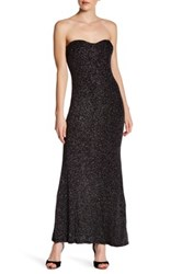 Jump Strapless Glitter Gown Black