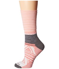 Smartwool Camp House Crew Mineral Pink Heather Women's Crew Cut Socks Shoes