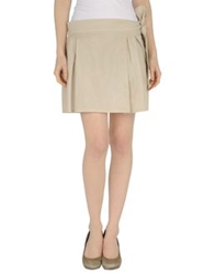 Hope Collection Mini Skirts Beige