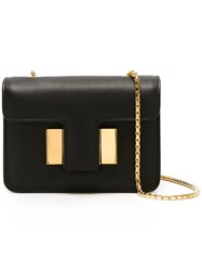 Tom Ford Gold Tone Hardware Shoulder Bag Black