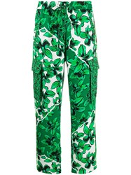 Iceberg Floral Print Pull On Cargo Trousers 60