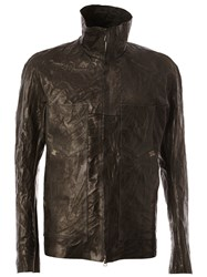 Isaac Sellam Experience High Collar Leather Jacket Black