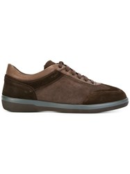 Salvatore Ferragamo Paneled Sneakers Brown