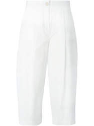 Erika Cavallini Semi Couture Wide Leg Cropped Trousers