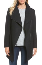 Halogenr Women's Halogen Asymmetrical Zip Boiled Wool Blend Coat