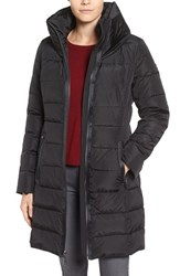 Michael Michael Kors Women's Quilted Down And Feather Fill Coat With Hidden Hood