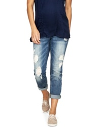 A Pea In The Pod Luxe Essentials Maternity Ripped Boyfriend Jeans Vintage Medium Wash