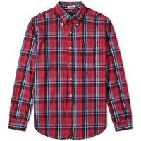 Engineered Garments 19Th Century Button Down Shirt Red