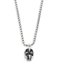 Zack Sterling Silver Skull Necklace