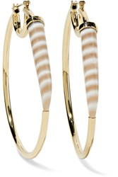 Kimberly Mcdonald 18 Karat Gold Chalcedony Hoop Earrings
