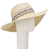John Lewis Packable Floppy Ribbon Trim Sun Hat Natural