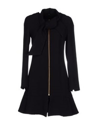 Edward Achour Full Length Jackets Black
