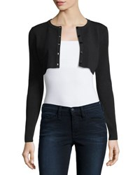 Milly Cropped Button Front Cardigan Black