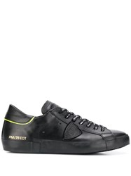 Philippe Model Side Patch Detail Lace Up Sneakers 60