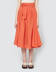 Black Crane Wrap Skirt In Paprika