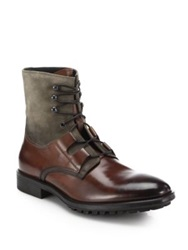 To Boot Blake Mixed Media Boots Cognac Flint