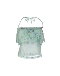 Manila Grace Denim Topwear Tube Tops Women Light Green