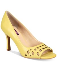 Mojo Moxy Charli Peep Toe Pumps Women's Shoes Yellow