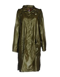K Way Overcoats Military Green
