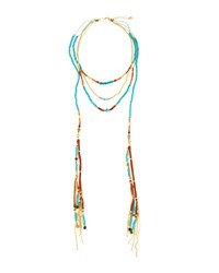 Nakamol Long Beaded Layered Necklace Blue