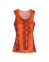 Bruno Manetti Topwear Vests Women Orange
