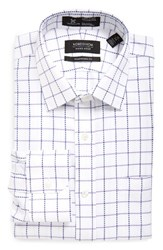 Nordstrom Men's Big And Tall Men's Shop Smartcare Tm Traditional Fit Check Dress Shirt Lavender Spray