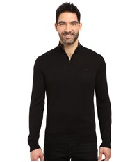 Lacoste Classic 1 4 Zip Jersey Sweater Black Navy Blue Men's Sweater