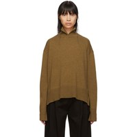 Studio Nicholson Brown Cashmere Fitted Turtleneck