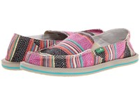 Sanuk Donna Pink Poncho Women's Slip On Shoes Multi