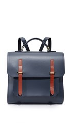 The Cambridge Satchel Company Bridge Closure Backpack Navy Tan