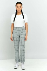 Light Before Dark Plaid Straight Leg Pant Grey