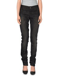 Byblos Denim Denim Trousers Women Black
